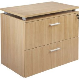 Lorell Concordia Series Latte Laminate Desk Ensemble - Office Supplies