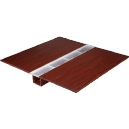 Lorell Concordia Series Mahogany Laminate Desk Ensemble - Office Supplies
