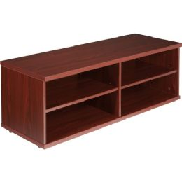 Lorell Concordia Series Mahogany Laminate Desk Ensemble - Office Supplies