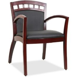 Lorell Crowning Accent Wood Guest Chair - Office Chairs