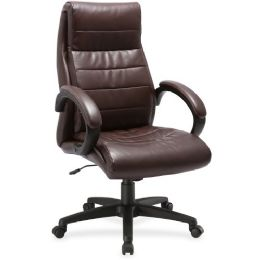 Lorell Deluxe HigH-Back Leather Chair - Office Chairs