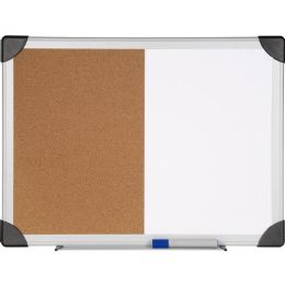 Lorell Dry Erase/Cork Board Combination - Dry erase
