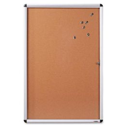 Lorell Enclosed Cork Bulletin Board - Bulletin Boards & Push Pins
