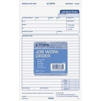 Tops Carbonless 3-Part Job Work Order Forms - Order book