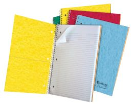 "24 Units of TOPS Earthwise 1 Subject Notebook, College Rule, 11"" x 8 7/8"", Assorted Covers, White, 100 Sheets - Notebooks"