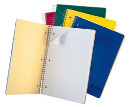 "24 Units of TOPS Earthwise 3 Subject Notebook, College Rule, 11"" x 8 1/2"", Assorted Covers, White, 150 Sheets - Notebooks"