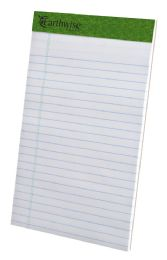 "12 Units of TOPS Earthwise Recycled Writing Pad, Narrow Ruled, 5"" x 8"", White - Note Books & Writing Pads"