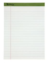 """6 Units of TOPS Earthwise Recycled Writing Pad, Wide Ruled, 8 1/2"""" x 11 3/4"""", White - Note Books & Writing Pads"""