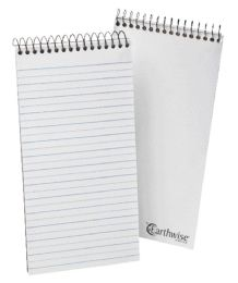 12 Units of TOPS Earthwise by Ampad Reporter's Notebook, 4 X 8,  White, Pitman Rule, 70 SH/BK, 12 BK/PK - Note Books & Writing Pads