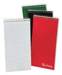 12 Units of TOPS Earthwise by Ampad Reporter's Notebook, 4 X 8,  White, Pitman Rule, 70 Sh/Bk, 3 Bk/Pk - Note Books & Writing Pads
