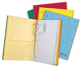 "20 Units of TOPS Earthwise by Oxford 5 Subject Notebook, 11"" x 8 7/8"", 200 sheets, College Ruled, Assorted Colors - Notebooks"