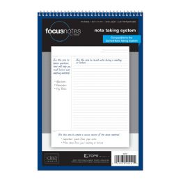 """12 Units of TOPS FocusNotes Writing Tablet, 8-1/2"""" x 11-3/4"""", Perforated, White, Cornell Rule, 70 SH/PD - Note Books & Writing Pads"""