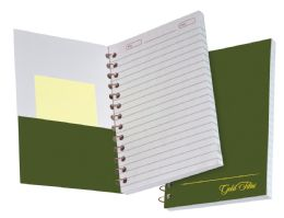 "36 Units of TOPS Gold Fibre Personal Notebook, College Ruled, 7"" x 5"", Classic Green Cover, 100 Sheets - Notebooks"