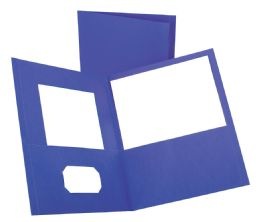125 Units of TOPS Leatherette Two Pocket Portfolio, Purple, 25 Pack - Folders & Portfolios