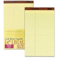 6 Units of Tops Legal Law Rule Pads - Note Books & Writing Pads