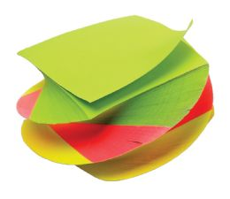 "36 Units of TOPS Neon Twirl Memo Pad, 3"" x 3"", Plain, 400 Sheets per Pad - Note Books & Writing Pads"