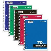 TOPS One-subject Wirebound Notebook - Notebooks
