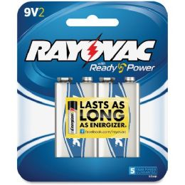 96 Units of Rayovac A1604-2f Alkaline 9-Volt Battery - Batteries