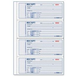 50 Units of Rediform 3-pt Carbonless Rent Receipt Book - Receipt book