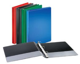"12 Units of Cardinal Performer Non-Locking Round Ring Binder, 1"" Assorted Colors - Binders"