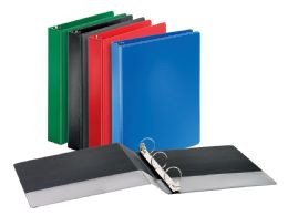 "12 Units of Cardinal Performer Non-Locking Round Ring Binder, 1.5"" Assorted Colors - Binders"