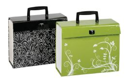 4 Units of Case File, 19 Pockets, Letter Size, Fashion 4-Color Prints - File Folders & Wallets