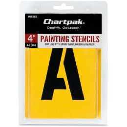 Chartpak Painting Letters & Numbers Stencil - Paint