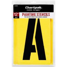 11 Units of Chartpak Painting Stencil Set - Paint