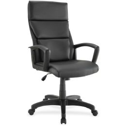 Lorell Euro Design Lthr Executive High-back Chair - Sign