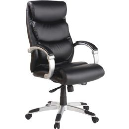 Lorell Executive Bonded Leather HigH-Back Chair - Office Chairs