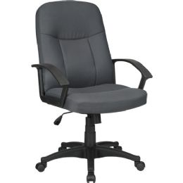 Lorell Executive Fabric MiD-Back Chair - Office Chairs