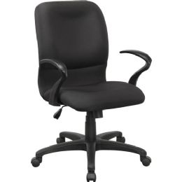 Lorell Executive MiD-Back Fabric Contour Chair - Office Chairs