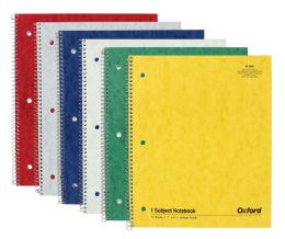 8 Units of TOPS Oxford Single Wire Notebook, 11 x 8-7/8, 1 Subject, Assorted Covers, 70 Sheets, College Ruled, 6-PACK - Notebooks