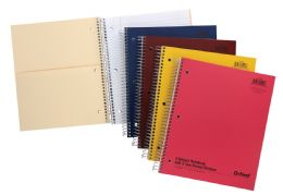 "24 Units of TOPS Oxford Single Wire Notebook, 11"" x 8 7/8"", 3 Subject, Assorted Covers, 120 Sheets, College Ruled - Notebooks"