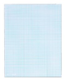 """72 Units of TOPS Quadrille Pad, Gum-Top, 8-1/2"""" x 11"""", Quad Rule (6 x 6), White Paper, 50 Sheets per Pad - Note Books & Writing Pads"""