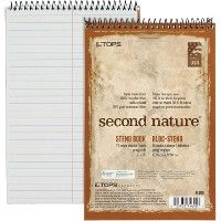 TOPS Second Nature Spiral Steno Notebook - Notebooks