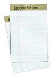 """12 Units of TOPS Second Nature 100% Recycled 18 lb. Legal Pad, 5"""" x 8"""", Perforated, White, Narrow Rule, 50 Sheets per Pad, 12 Pads per Pack - Note Books & Writing Pads"""