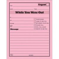 TOPS While You Were Out Message Pads - Note Books & Writing Pads