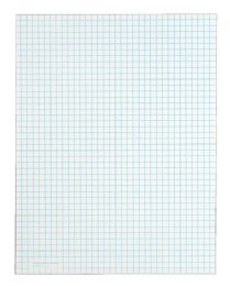 """12 Units of TOPS Quadrille Pad, Gum-Top, 8-1/2"""" x 11"""", Quad Rule (4 x 4 front, 5 x 5 back), White Paper, 50 SH/PD, 6 PD/PK - Note Books & Writing Pads"""