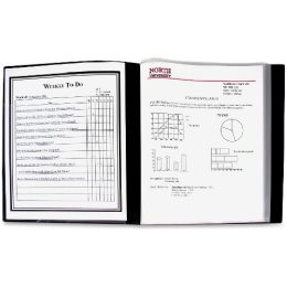 C-line 24-Pocket Bound Sheet Protector Presentation Book, Black, 33240 - Sheet protector