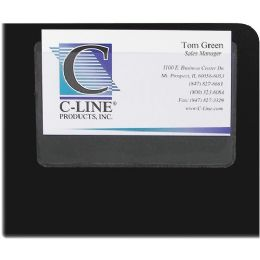 C-line 70257 Top Load Business Card Holder - Business cards