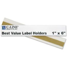12 Units of C-line Best Value Peel and Stick Shelf/Bin Label Holder - Storage and Organization