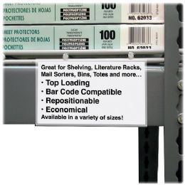 12 Units of C-line Best Value Peel/Stick Shelf Label Holders - Labels