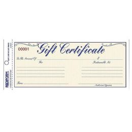 Rediform Gift Certificates With Envelopes - Envelopes