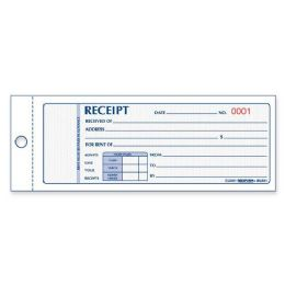 80 Units of Rediform Rent Receipt Book - Receipt book