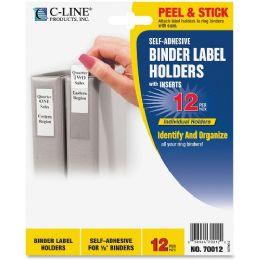 C-Line SelF-Adhesive Binder Label Holder - Binders