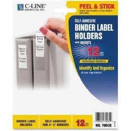 C-Line SelF-Adhesive Binder Label Holders - Binders
