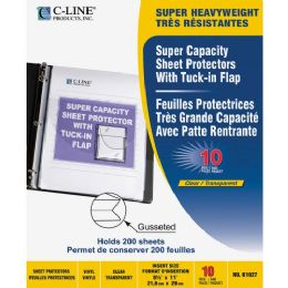 C-line Super Capacity Sheet Protector with Tuck-in Flap - Sheet protector