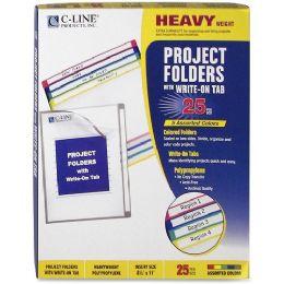 30 Units of C-line Write-on Project Folder - Folders & Portfolios
