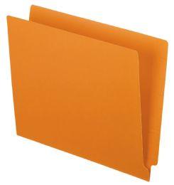 5 Units of Color End Tab Folders, Orange - Folders & Portfolios